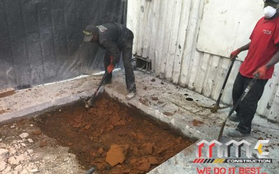 Concrete Slab Digging